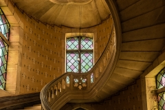 Wendeltreppe im Chateau d'Alicia