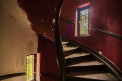 Rote Wendeltreppe