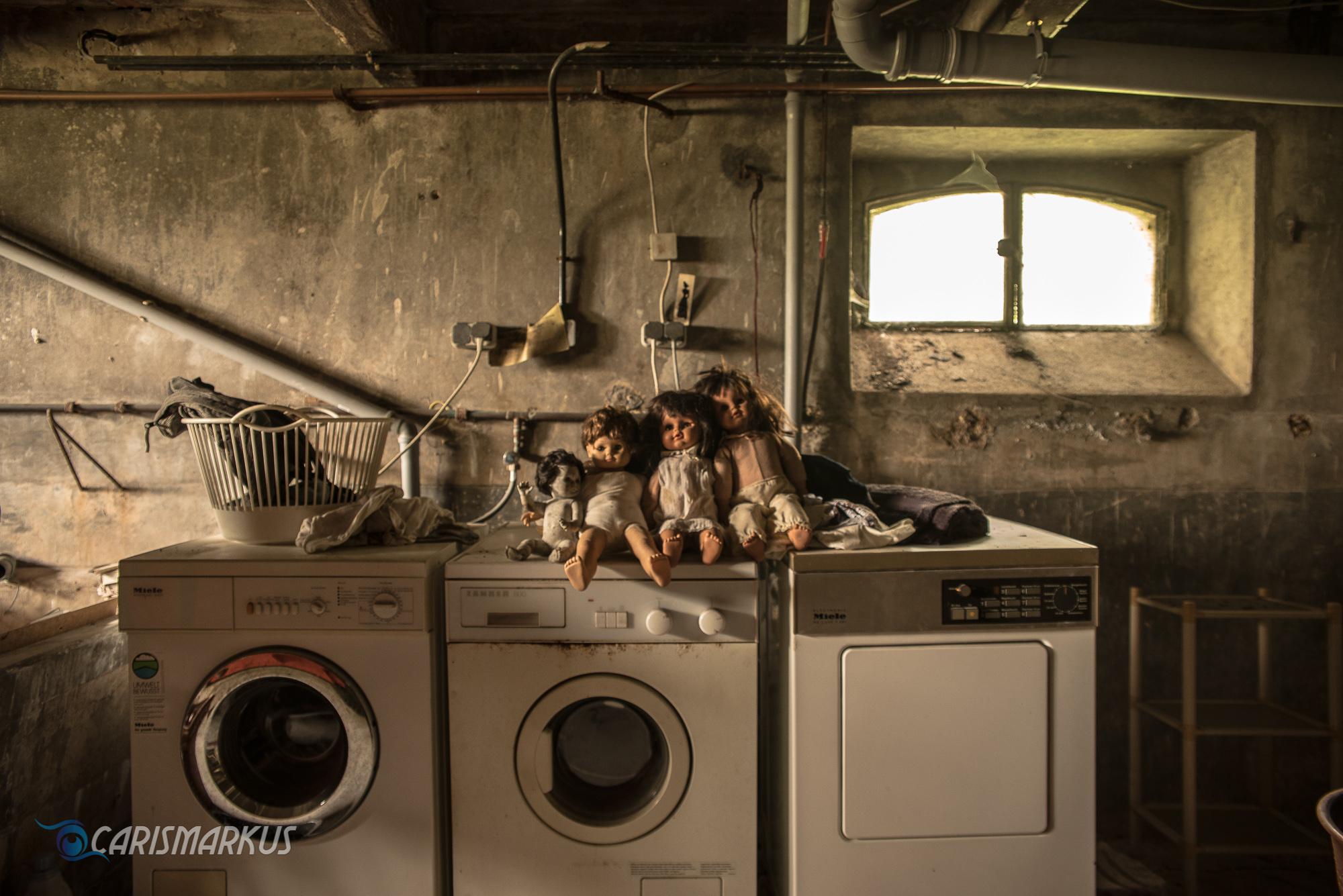 Waschtag im Keller