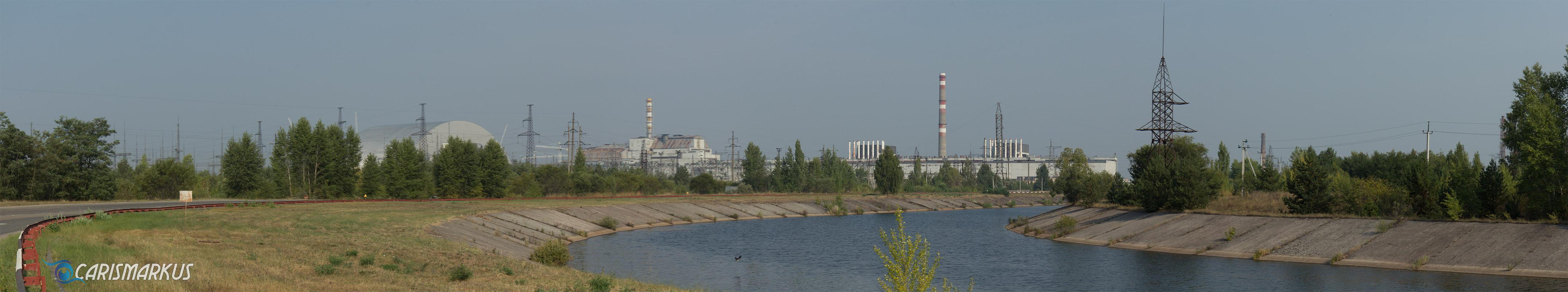 Reaktorgelände Tschernobyl im Panorama