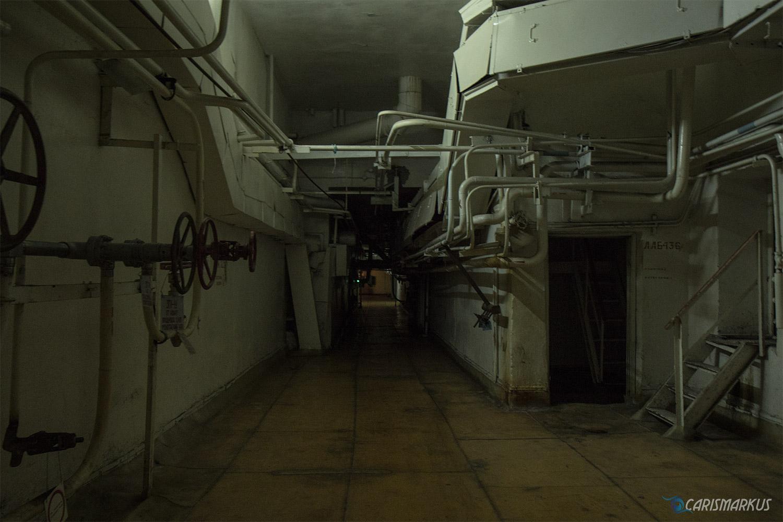 Gang zum Turbinenraum Reaktor 3