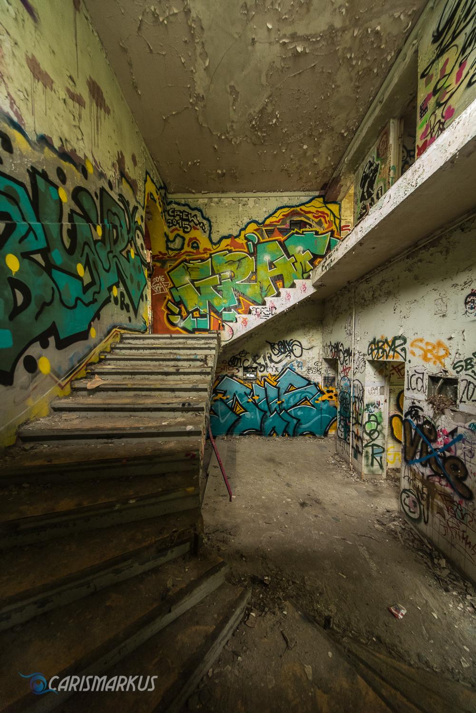 Treppen mit Graffito