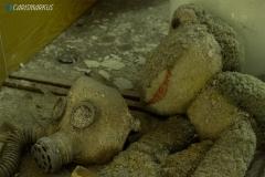 Frosch mit Gasmaske