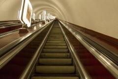Rolltreppe der Metro Kiew